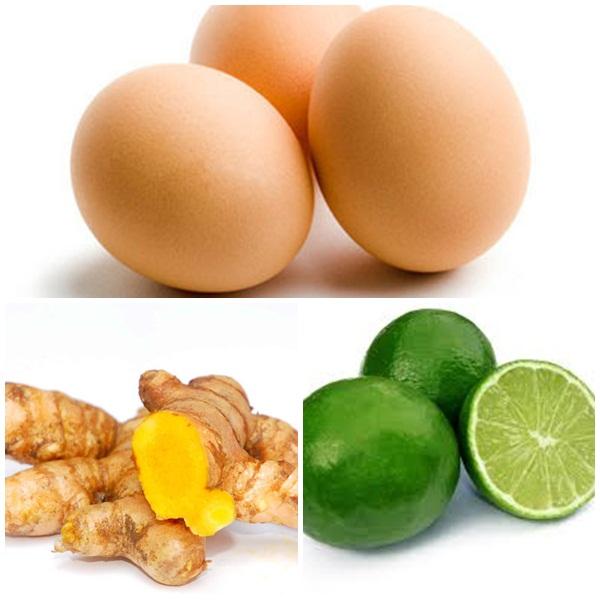 trị tàn nhang bằng nghệ tươi và trứng gà