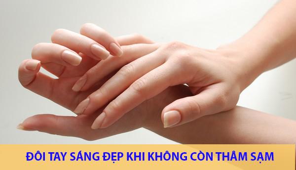 Sở hữu đôi tay sáng mịn, không tàn nhang là niềm ao ước của nhiều chị em phụ nữ