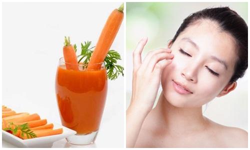 Giải pháp trị tàn nhang cực hiệu quả từ cà rốt