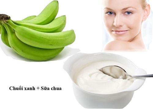 Cách trị tàn nhang, trị nám bằng chuối xanh với sữa chua hiệu quả