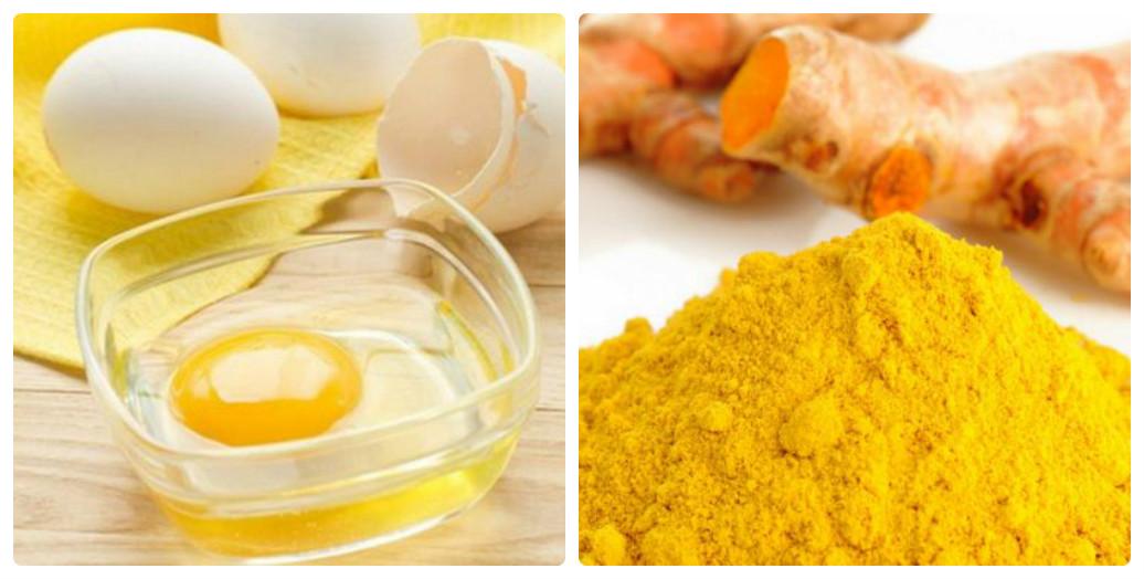 Bột nghệ, lòng trắng trứng và một vài giọt chanh là mặt nạ trị tàn nhang hoàn hảo cho da dầu