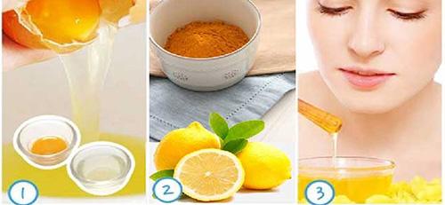 Cách chữa tàn nhang bằng nghệ  + chan h+  trứng gà