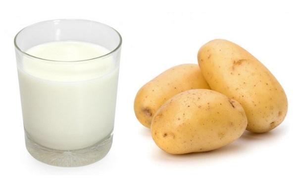Cách trị nám tàn nhang tại nhà tự nhiên bằng khoai tây và sữa tươi