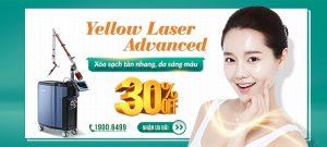 Yellow laser – Advanced:  Công thức chuyên gia trị tàn nhang: OFF 30% + Tặng voucher 1 triệu 8