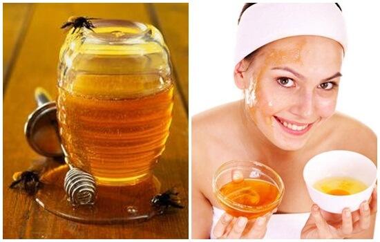 Cách trị tàn nhang bằng mật ong và trứng gà trên mặt