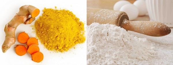 Ngăn ngừa tàn nhang bằng bột nghệ và bột mỳ hiệu quả